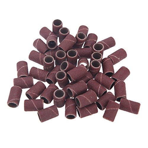 Anself 100 schleifhülsen für Nagelfräser Elektrische Nagelfeile Nail Zubehör 80# 120# 180# Optional Größe