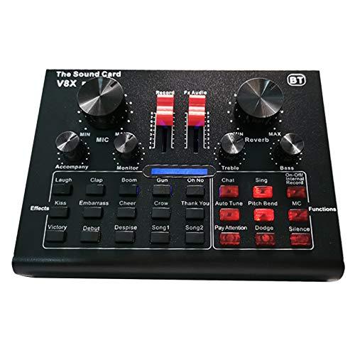 Fesjoy Tarjeta de Sonido V8X Pro Live 15 Efectos de Sonido Equipos de grabación de Audio