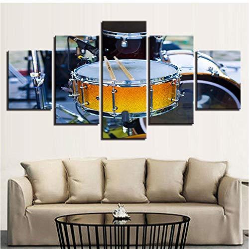HD Leinwand Bilder Wandkunst 5 Stücke Gemälde Musikinstrumente Poster Wohnkultur - 40x60cmx2 40x80cmx2 40x100cmx1