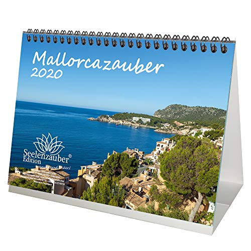 Mallorcazauber DIN A5 Tischkalender 2020 Mallorca Geschenk-Set: Zusätzlich 1 Grußkarte & 1 Weihnachtskarte - Seelenzauber