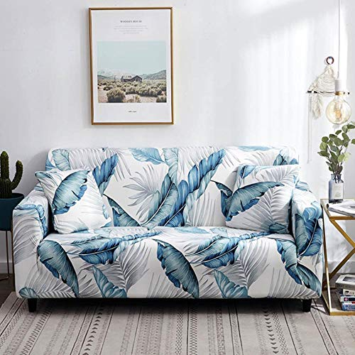 GJHGJ Funda de sofá de algodón con Estampado Floral Toalla de sofá Fundas de sofá para Sala de Estar Funda de sofá Proteger Muebles de Color 17,2 plazas 145-185 cm