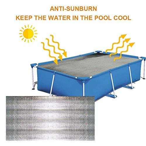 HTYG Rectangular Solar Cover-Plástico de Burbujas Plateado Cubierta de protección-Cubierta de Polvo...
