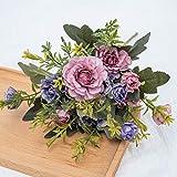 KIU Flores para decoración del hogar de plástico falsas flores ramo de boda mesa centro de decoración