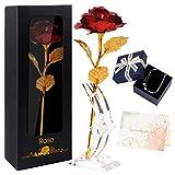 Joyhoop Eterna Rose, Lamina d'oro Artificiale Fiore, Regali per la Festa della Mamma, Regali per Anniversario e Compleanno, È il regalo e la decorazione perfetti per la festa della mamma.