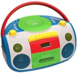 HARLEKIN TRAGBARER Kinder Radio-Kassetten-CD Player I STEREOANLAGE I Boombox I Weiss...
