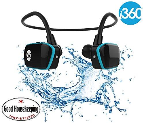 Reproductor de MP3 para nadar Sumergible hasta 3 metros - Reproductor de MP3 inalámbrico de 8GB - Escuche su música mientras nada/corre/entrena/gimnasio ¡Dispire sin cable! Reproductor de música