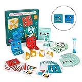 Cubos de Cambio de Cara, Puzzle Building Cubes Emoji, Juguete Montessori, Emoji de Madera, Educativos Bloques Pensamiento Entrenamiento Lógica Rompecabezas Educativos Regalo para Preescolar (B)