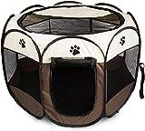 Mediawave Store – Tienda de campaña para perros o jaulas para animales pequeños, 76 x 58 cm, color beige