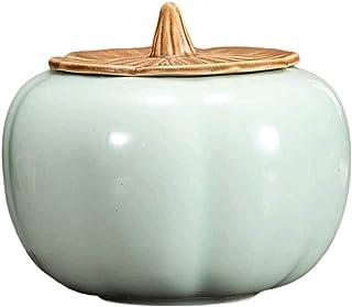 AWAING Bocaux Pot de rangement en céramique Cuisine de stockage des aliments Bidons Récipient avec couvercle for Airtight ...