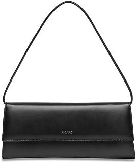 Picard Auguri 4022 Elegante Nappa Leder Clutch Abendtasche klassisch schwarz, 26x11x3 cm B x H x T