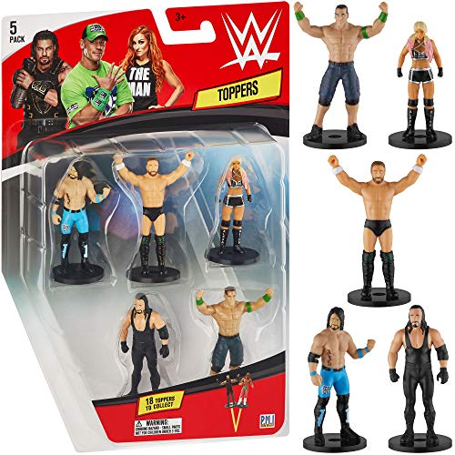 PMI WWE Superstar Pencil Toppers, Set of 5 – WWE Superstars for Writing, Party Decor, Toppers Gifts – Daniel Bryan, John Cena, Undertaker, Alexa Bliss and More