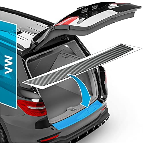 Auto Ladekantenschutz Folie für Passat Variant B8 3G Facelift I 2019-2021 - Stoßstangenschutz, Kratzschutz, Lackschutzfolie - Carbon Optik Selbstklebend