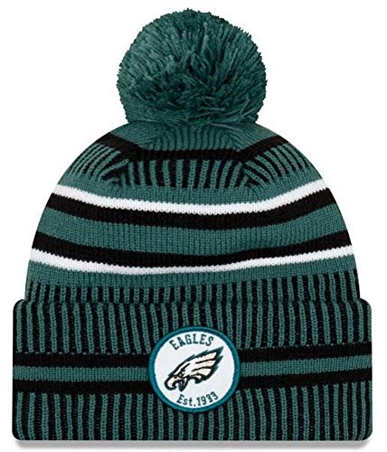 New Era ONF19 Sport Knit Mütze Philadelphia Eagles Türkis Schwarz, Size:ONE Size