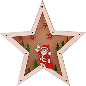 Lámpara de noche LED de Navidad con luz cálida, de madera, diseño de Papá Noel, árbol de ciervo, lámpara de mesa, lámpara colgante para el hogar, fiesta, árbol de Navidad