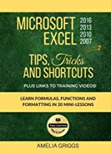 Microsoft Excel 2016 2013 2010 2007 Tips Tricks and Shortcuts (Color Version): Learn Formulas, Functions and Formatting in 20 Mini-Lessons (Easy Learning Microsoft How-To Books) (Volume 2)
