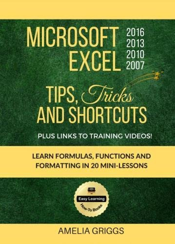 Microsoft Excel 2016 2013 2010 2007 Tips Tricks and Shortcuts (Color Version): Learn Formulas, Functions and Formatting in 20 Mini-Lessons (Easy Learning Microsoft How-To Books, Band 2)