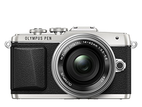 Olympus PEN E-PL7 Kompakte Systemkamera (16 Megapixel, elektrischer Zoom, Full HD, 7,6 cm (3 Zoll) Display, Wifi) inkl. 14-42 mm Pancake Objektiv silber/silber