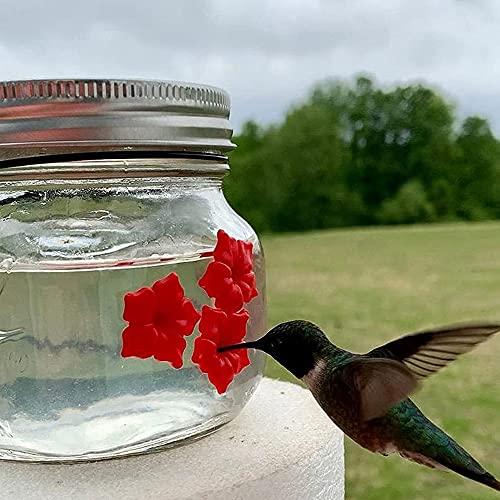 ASAS 2021 New Mason Jar - Comedero para Pájaros, Comedero para Colibrí con Tres Puertos, Comederos para Colibrí Colgantes Fáciles De Usar para Exteriores, Balcón, Jardín Decorativo (1PCS)
