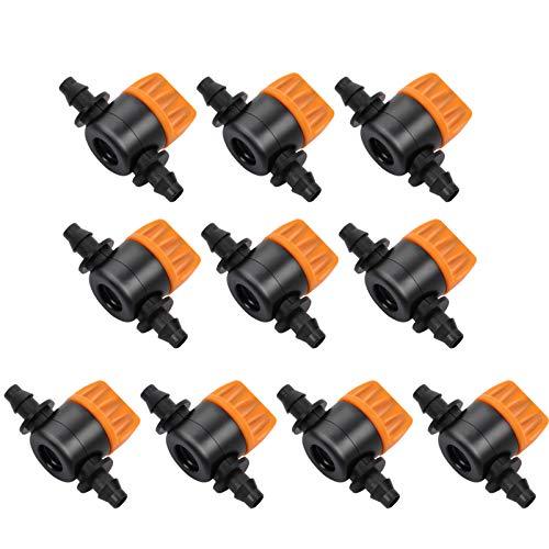 YARNOW 10 Piezas Válvula de Interruptor de Riego por Goteo 4/7 Válvulas de Compuerta de Tubo Accesorios de Riego Piezas Estilo 3