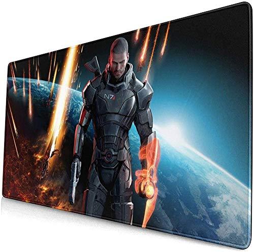 XTTGGD Alfombrillas de ratón Grandes para Juegos Mass Effect con Ordenadores Antideslizantes, portátiles, oficinas, hogar, 800X300X3mm