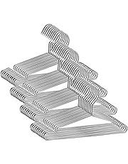 Cozyone ハンガー 304 ステンレスハンガー 20本組 すべらない 洗濯 ハンガー 頑丈 錆びにくい 曲がらない ハンガー スカート シルバー ハンガー ズボン コート 3.2mm 幅42cm …