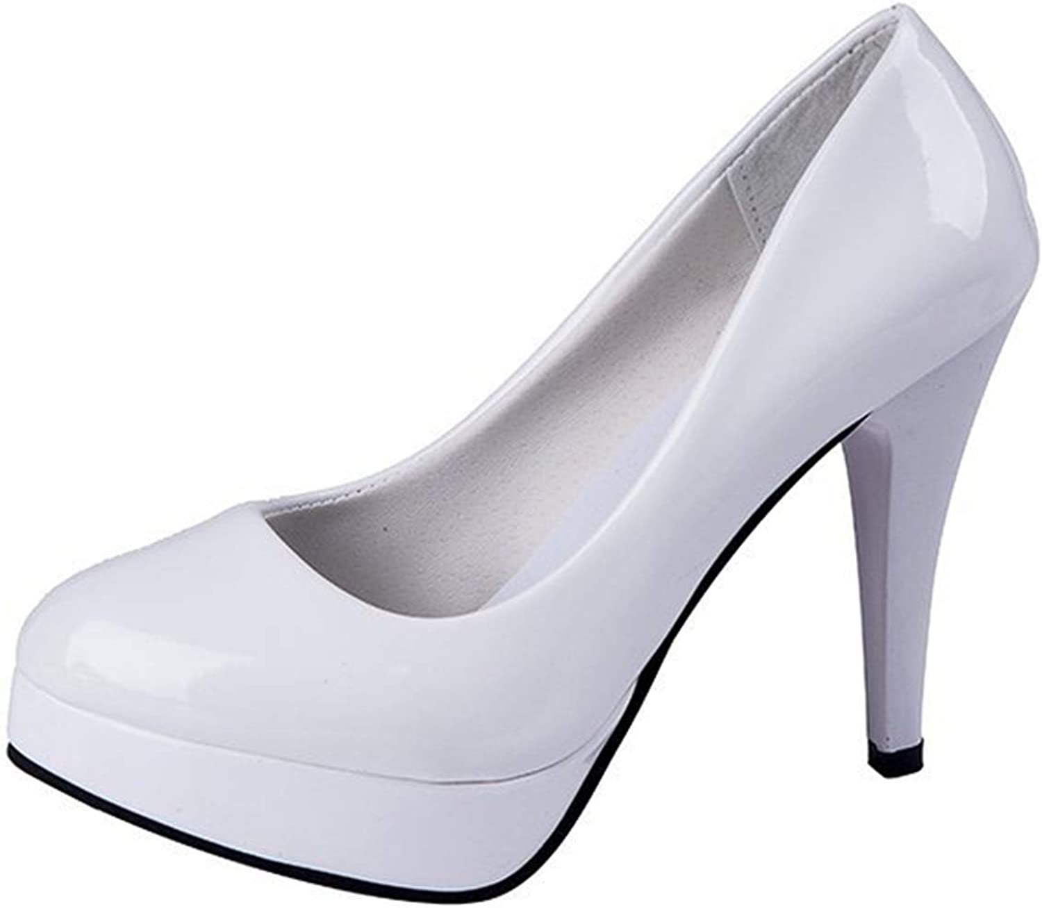 Women Platform Pumps Spring Summer Patent Leather Thin High Heels Office Career shoes