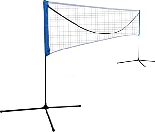 Sports God Portable Large Volleyball Badminton Tennis Net with Carrying Bag Stand/Frame
