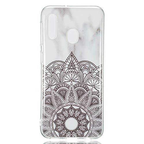 Klar Kristal Bling TPU für Samsung A20e,Clear Transparent Sparkle Glitter Kreative icht Durchsichtiges Soft-Flex Gummi Gel Ultra Dünn Slim Flexible Weiche TPU Silikon Gomma Schutz Hülle
