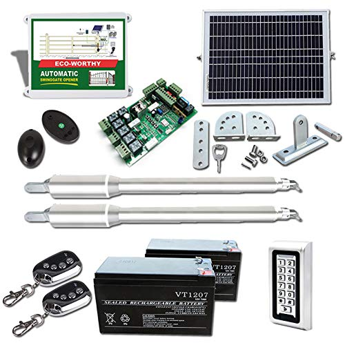 ECO-WORTHY Automatic Gate Opener Kit Solar Heavy...