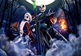 Jack Skellington - Night Before Christmas Wooden Puzzles for Adults, 1000 Piece Kids Jigsaw Puzzles Game Toys Gift for Children Boys and Girls, 20' x 30'