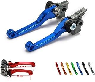 Billet Pivot Foldable Clutch Brake Lever Dirt Bike Levers For Honda CRF250R CRF 250R CRF450R 450R 07-18 Dirt Bike Motorcycle Blue