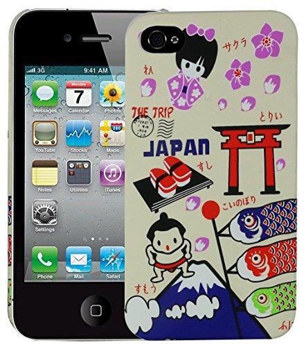Heartly Flag Design Hybrid Tough Armor Hard Bumper Back Case Cover for Apple iPhone 4 4S 4G - Japan