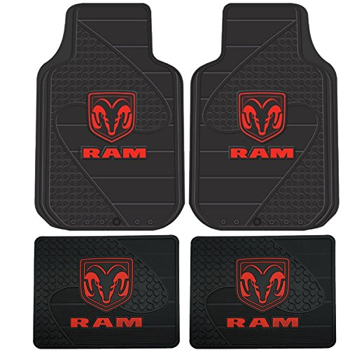 Our #4 Pick is the Plasticolor Dodge Ram Head Logo Floor Mats