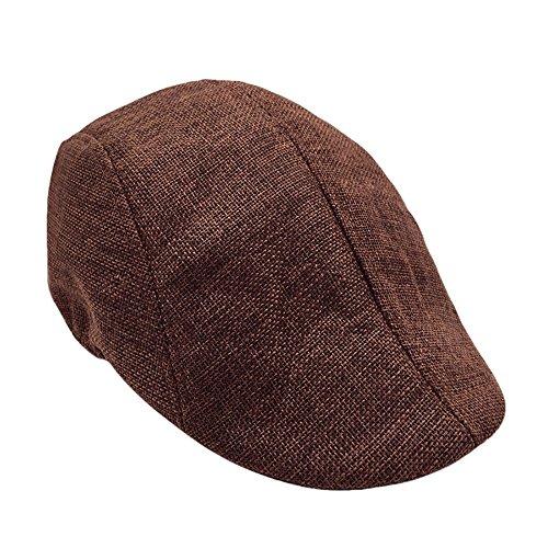 TUDUZ Schirmmützen Mode Herren Hut Kappe Warm Halten Schiebermütze Barette Traditionelle Flatcap in Mehreren Farben(,Braun)