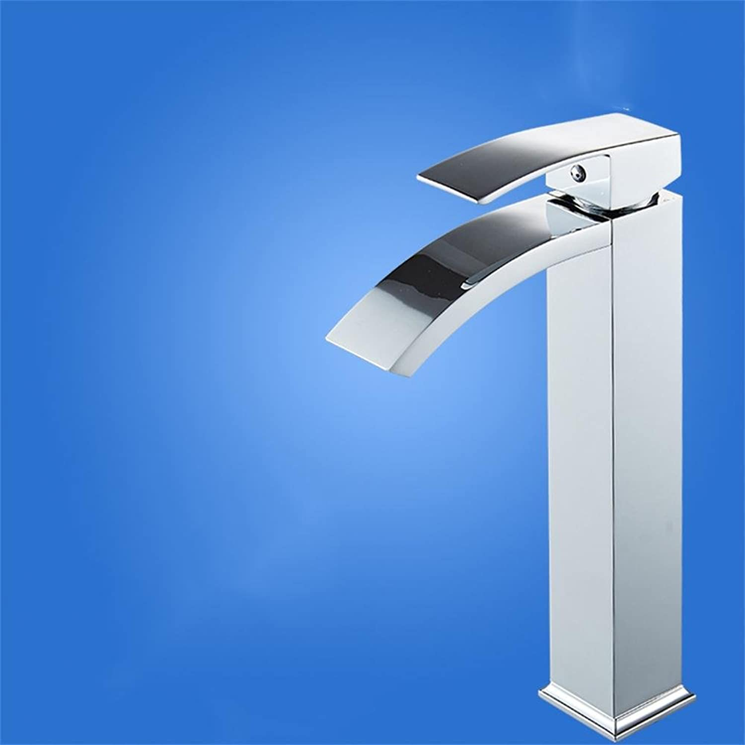 TOYM UK- Waterfall Type Basin Hot And Cold Faucet Bathroom Washbasin Stage Basin Faucet ( color   High )