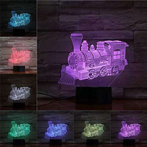 Tren Presentación De Diapositivas En 3D Luce Notturna 3D Luz Nocturna Botón Usb Acrílico Luces Ópticas Decoración Luminaria Noches Lámparas Regalos Para Niños Para Bebé