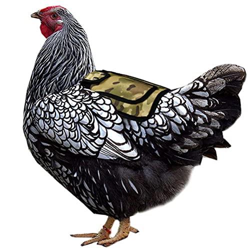 Yusat Sillines de pollo con correa ajustable para silla de montar de gallina, protector para espalda y lados