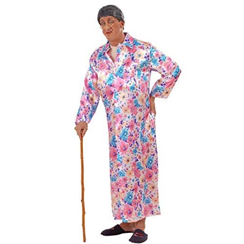 Exhibitionist Kostüm Nackte Oma mit Mantel L 52 Exhibitionisten Verkleidung Männer Großmutter im Morgenmantel Faschingskostüm Junggesellenabschied Nacktkostüm Lustiges Karnevalskostüm Herren Karnevalskostüme Erwachsene