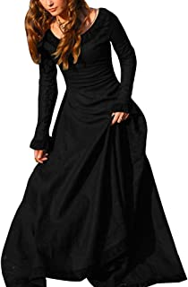 Disfraz De Medieval Para Mujer Vestido Gótico Vintage Vestido Medieval Traje De Cosplay Princesa Renacimiento Negro S