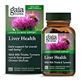 Gaia Herbs Liver Health Vegan Liquid Capsules, 60 Count - Daily Liver Detox Supplement, Antioxidant Source with Organic Milk Thistle, Turmeric (Curcumins), Licorice Root
