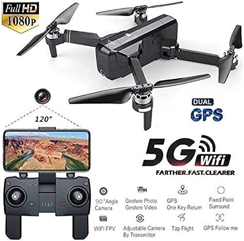 RONSHIN Jouets SJRC F11 GPS 5G WiFi FPV avec la caméra 1080P 25mins Temps de vol sans Brosse Selfie RC Drone Quadcopter