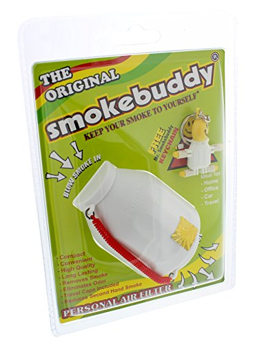 Smoke Buddy Personal Air Purifier Cleaner Filter Removes Odor - White