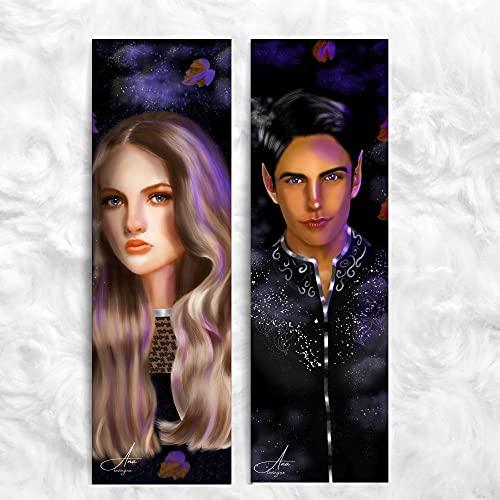 KIT de Marcadores de página - Feyre e Rhysand 2 un (Corte de Espinhos e Rosas)