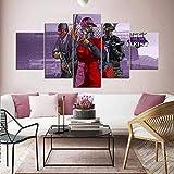 IILSZMT Hd Art Cuadro De Pared 5 Partes Impresión Decoración Canvas Grand Theft Game Gta Online The Diamond Casino Heist Moderno Salón Decoración Para Hogar