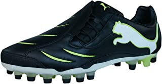 Powercat 2.10 Synth Grass Mens Leather Soccer Boots/Cleats - Black