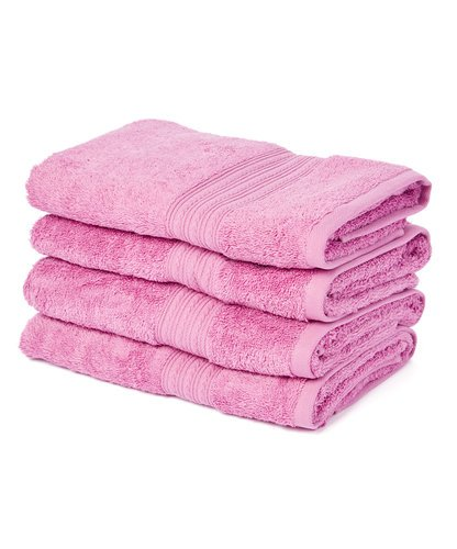 Cotton Large Hand Towels, Hair Towels , 20' x 35' - Set of 4 (Purple)