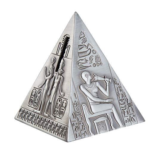 Wguili Cajas de Dinero Linda Creativa de los Ornamentos del Regalo for Enviar Regalos de los niños Retro pirámide Hucha Decoración Hucha Adecuado como un Regalo para la Familia y Amigos