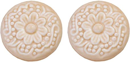 2 stks Keramische Knoppen Lade Handvatten Kast Handvatten Decoratieve Trekt voor Laden/Kasten/Dressers, Slaapkamer Badkame...