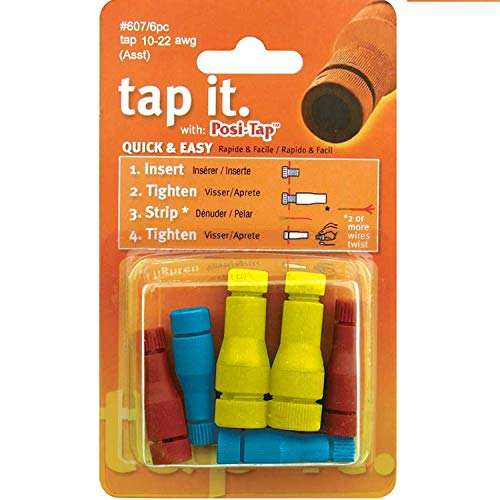 Lockitt POSI-TAP Assortment pack wire connectors 10-22 awg