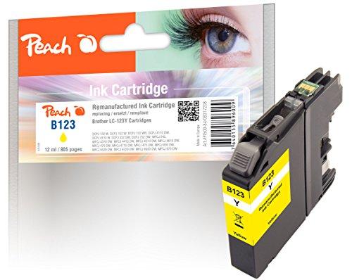 Peach Tintenpatrone gelb kompatibel zu Brother LC-123